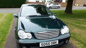 Mercedes C Class 220 CDI Elegance Automatic. Metallic Green. Good Condition.