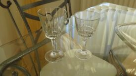 2 x wine glasses