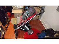 Mamas&papas red pushchair in very good condition price is negotioable