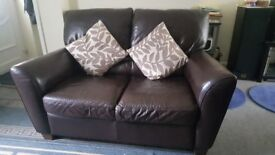 3 and 2 dark brown seat sofa. Very good condition.