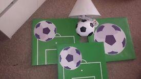 football canvas, football lamp
