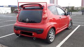 Peugeot 107 Citroen C1 rear tailgate roof spoiler