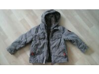 Boys 2 in 1 jacket, tarn colour, size 104, 3 years