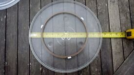 microwave plate and roller ring.