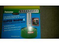 Parasene greenhouse heater