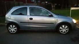 2003 Vauxhall Corsa 3 Doors Silver 1.2 CC, MOT November