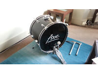 Axe Bass Drum with Pedal and Tom Arms