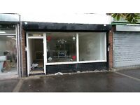 Lock up shop 117sqm to let £9000pa on revitalised parade Burnage Lane opposite Tesco