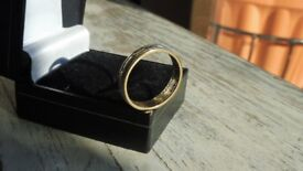 9ct gold eternity ring with 12 natural earth diamonds and inscription poem size R approx