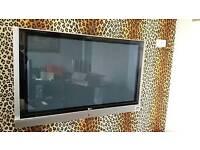 "LG PLASMA 50"" TV with bracket"