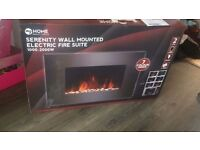 Serenity wall mounted electric fire place