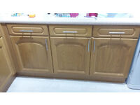 Solid Oak Kitchen Cupboard Doors, Drawer Fronts and End Display Units