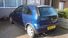 Vauxhall Corsa 80k mileage, 1.2l, petrol
