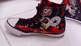 Original Dc Harley Quinn Converse size 4