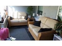 Two High Quality Wicker Sofas/ 2 x 2 Seaters £45 each £80.00 for both