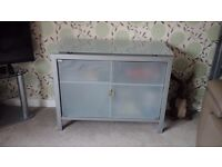 Glass and Metal sideboard.