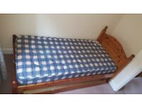 Single bed with mattress and underbed storage