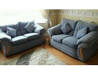 NEW DFS BLUE SOFAS 2+2 CAN DELIVER FREE BARGAIN