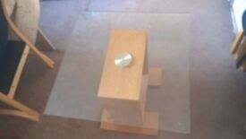 Glass Top coffee Table (26 x 26 inches top - 22 inches Height) £30