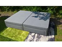 Ex-display Bensons Beds Grey Drawered King Size Divan Bed Base.