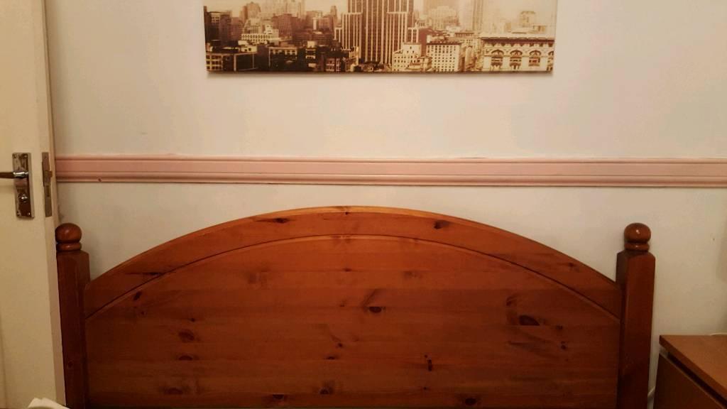 Pine headboard double size