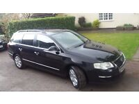 VW Passat Estate, 2007 SE, black, 1.9TDi diesel, good clean tidy condition