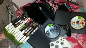 XBOX 360, 13 Games, 2 Controllers, Headset