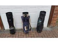 3 GOLF BAGS IDEAL FOR SOMEONE JUST STARTING