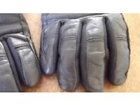 Leather Shoei Motorcycle Gloves - size M