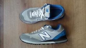 New Balance Mens Trainers Grey and Blue Size 9 / 43 VGC