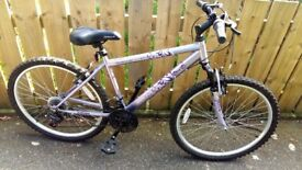 """Girls bike for sale 17"""" frame 9 + Mint condition"""