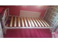 Girls single bed frame with love heart design