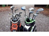Golf clubs and Bags - Free