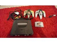 N64 with goldeneye, 2 pads and all cables.