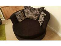 Large DFS Swivel Cuddle Chair Sofa