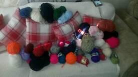 Knitting wool.
