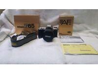 Nikon nikkor f65 slr 35mm full frame film zoom camera retro lomography pre-digital