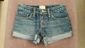 Girls Denim Shorts. Age 8-9 Years.