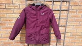 Jack Wolf-skin jacket for sale. Kids size small 140cm.