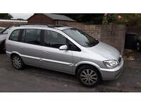 2004 Vauxhall Zafira Elegance 1.8 16v Silver 7 seats 102000 miles