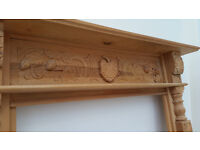 carved pine fire suround