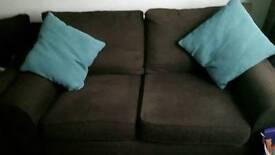 2x2 seater chocolate sofas