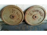 2x20kg body bild caste iron weight plates