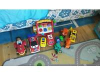 Toy bundle including cars and Bob the Builder vehicles
