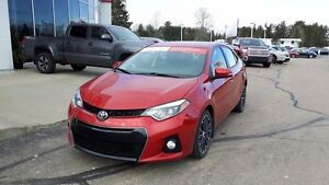 2014 Toyota Corolla S 6 spd manual with UPGRADE PACKAGE