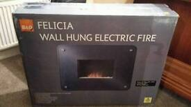 Electric wall hung fire