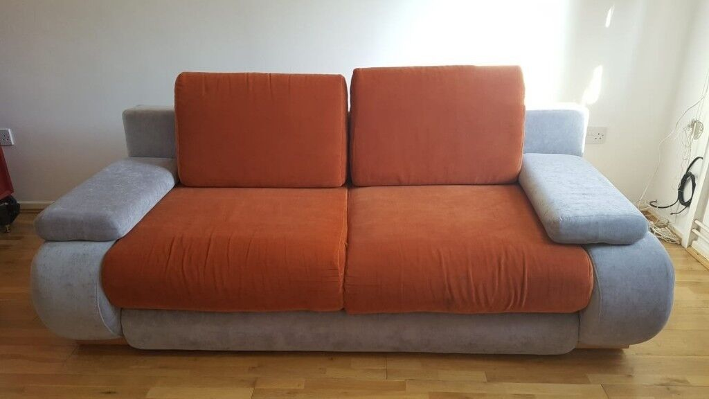 Double Sofa Bed With Storage Perfect Condition In Oxford