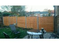 Fencing and garden works