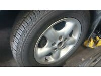 "LAND ROVER FREELANDER 1 1997-2000 5 SPOKE 16"" ALLOY WHEELS 215 TYRES"