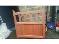 Hard wood gate